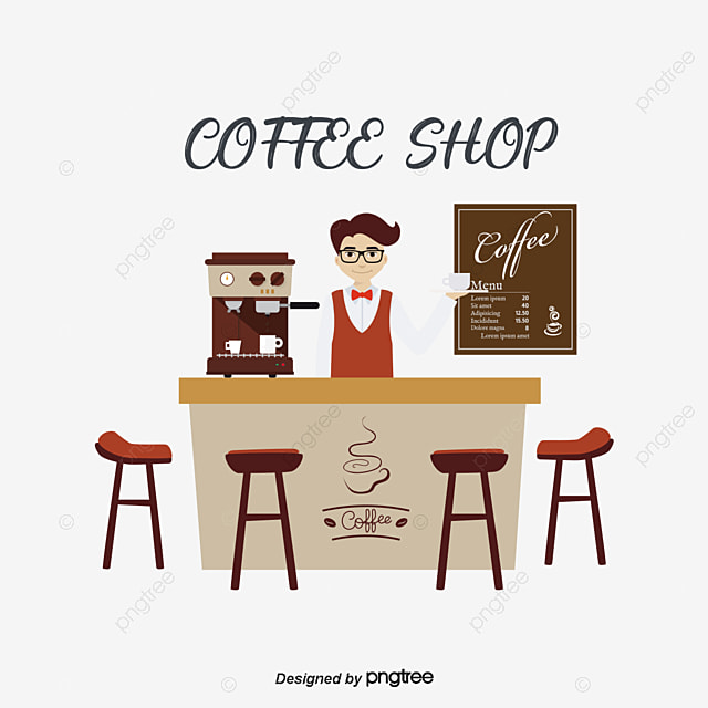 Coffee Shop Vector, Hand, Coffee, Coffee PNG and Vector ...