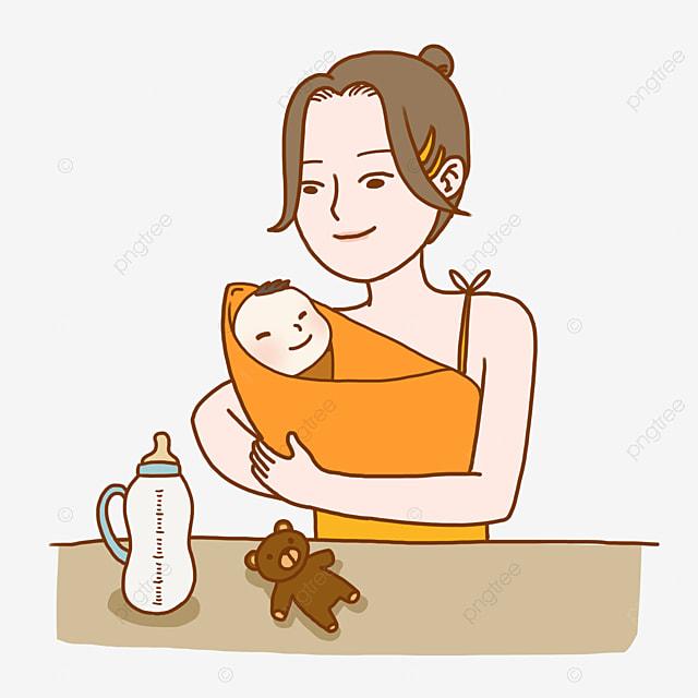 Mẹ Cho Con Một Tuyến Vector Miễn Phí Png Và Clip Nghệ Thuật