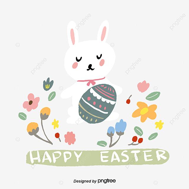 Transparent easter bunny
