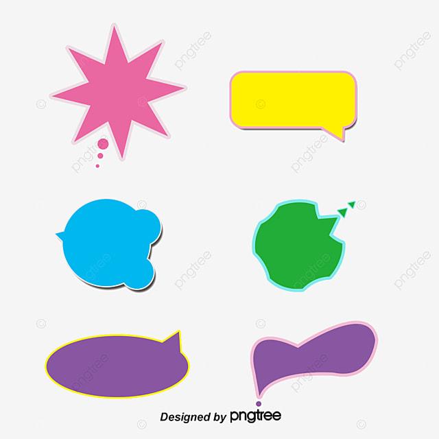 Burbujas De Texto En Diferentes Colores Burbujas De Chat
