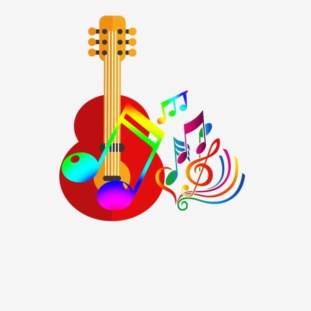 Stylish Colorful Gradual Musical Notes Logo Logo Clipart