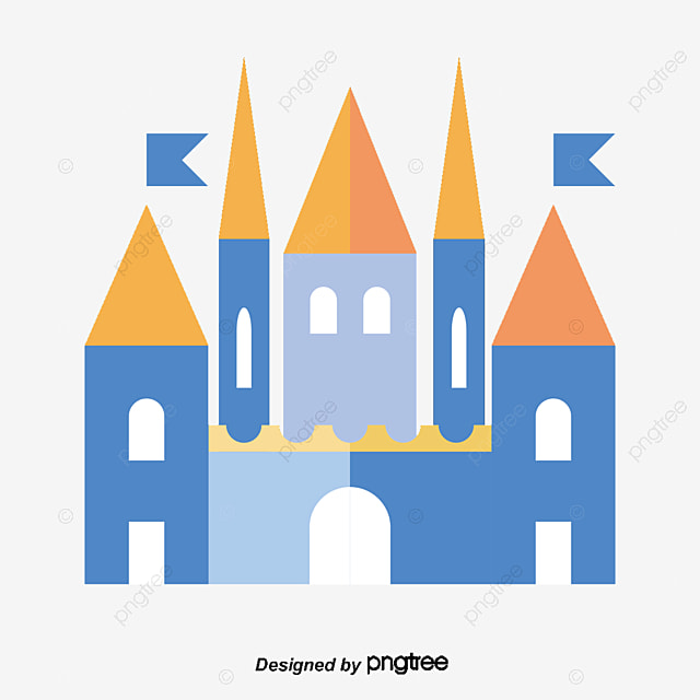 Blue Castle Vector, Hand, Blue, Castle PNG And Vector With