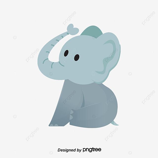 lindo elefante dos desenhos animados vector png elefante dos