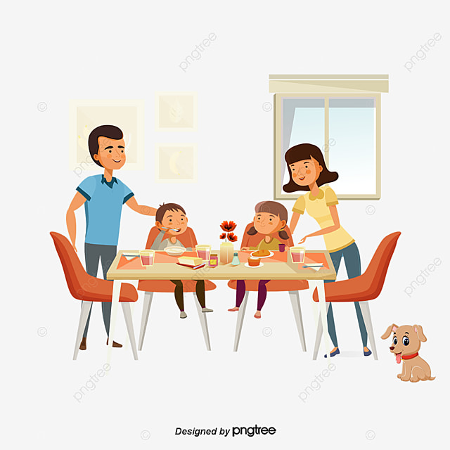 family dinner family vector family dinner party png and vector