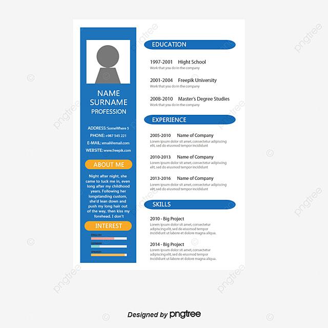 bleu de commerce cv le vecteur de png mod u00e8le de reprise le commerce cv png et vecteur pour