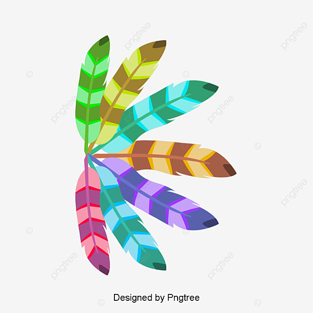 Colored Pluma De Indio, Color, Indian, Pluma Imagen PNG para ...