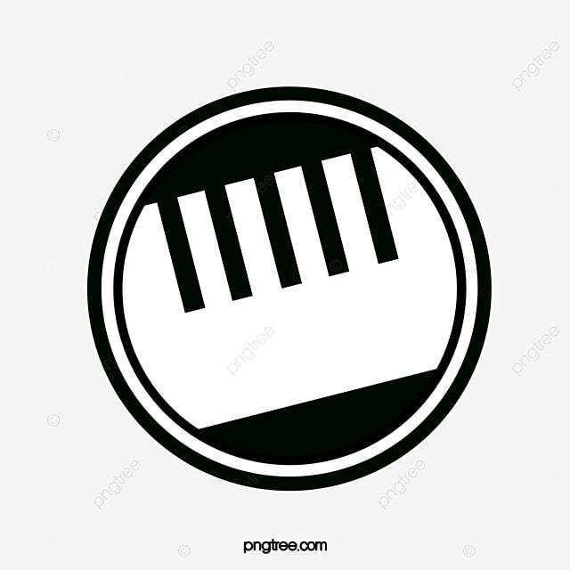 black and white keyboard music logo music clipart logo