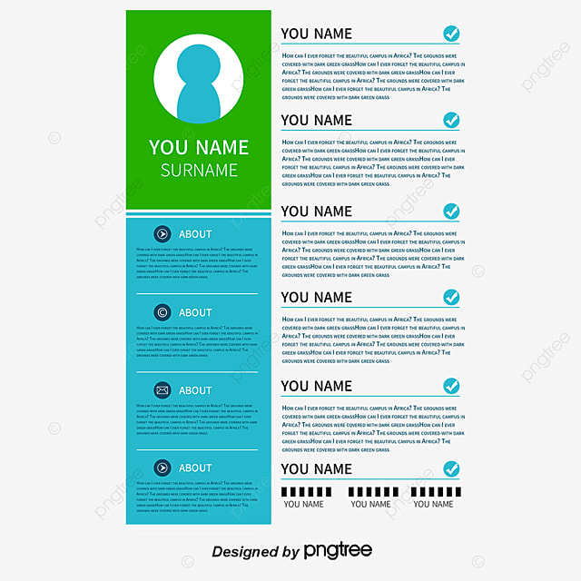 Green Resume Vector Png Resume Resume Template Png And Vector For
