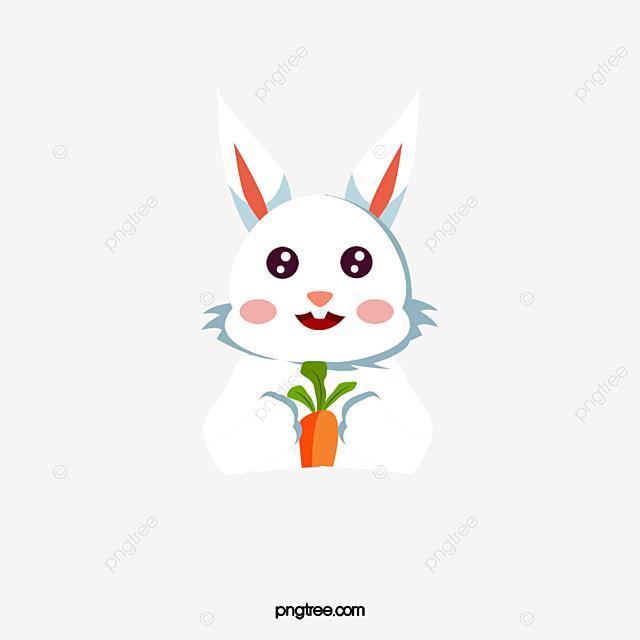 un lapin avec de la carotte le vecteur de png un petit