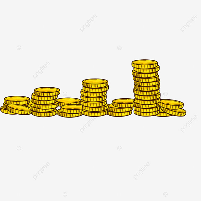 a pile of gold coins gold yellow money png image and