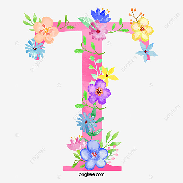 Flowers Letter T Letter Clipart Flower Letter Png Image And
