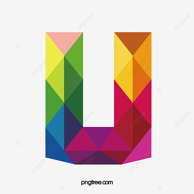 Colorful Letters U Colorful Letter U Png Image And Clipart For