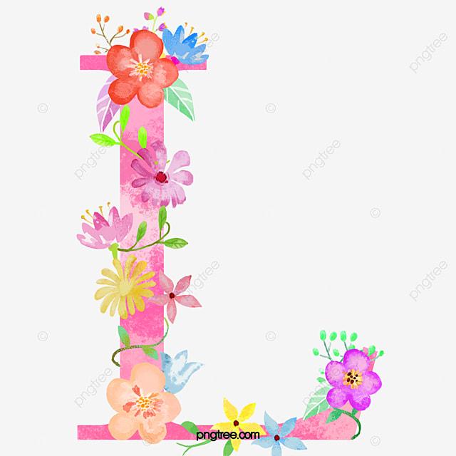 flores letra l flores letra l png imagem para download