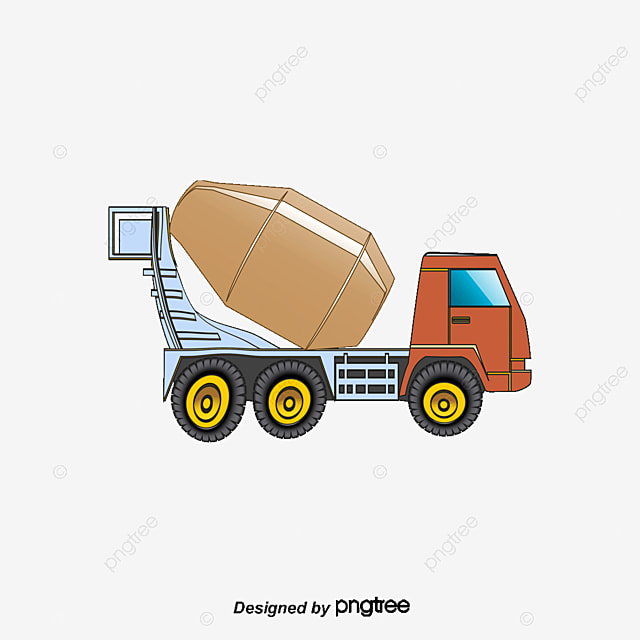 Masonry Business Clip Art : Cartoon concrete mixer truck architectural engineering