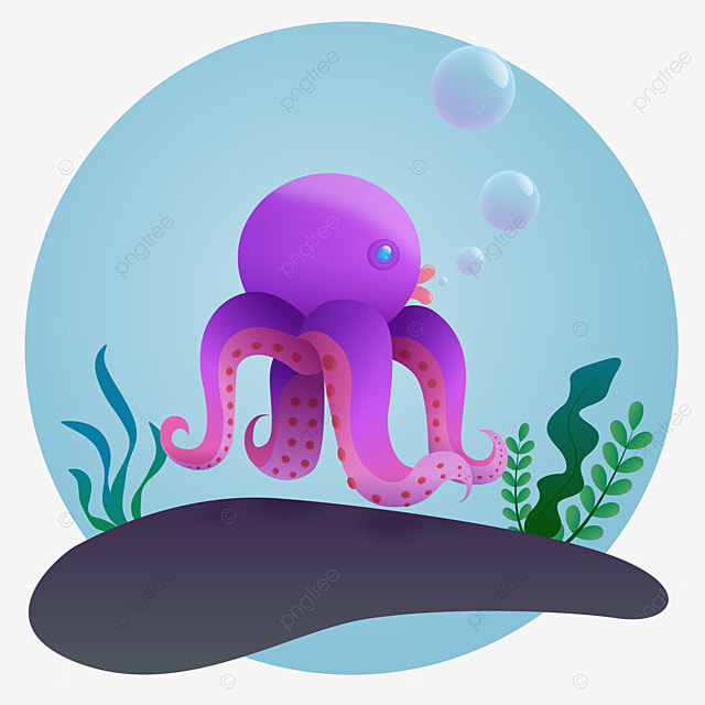 Deep Sea Octopus Monster Black And White Illustration Octopus