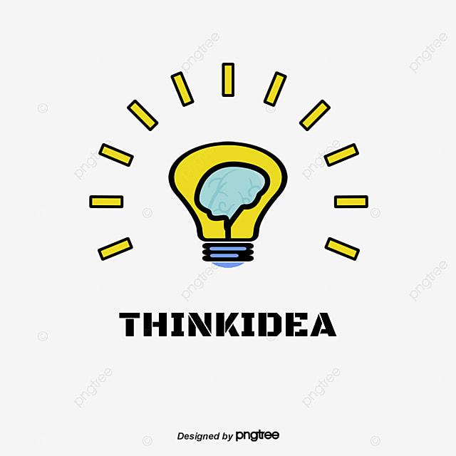 Brain Bulb Logo Logo Design Cartoon Bulb Icon Png And