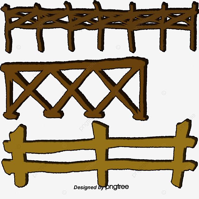 Valla de madera material madera estacas vector juego - Estacas de madera para cierres ...