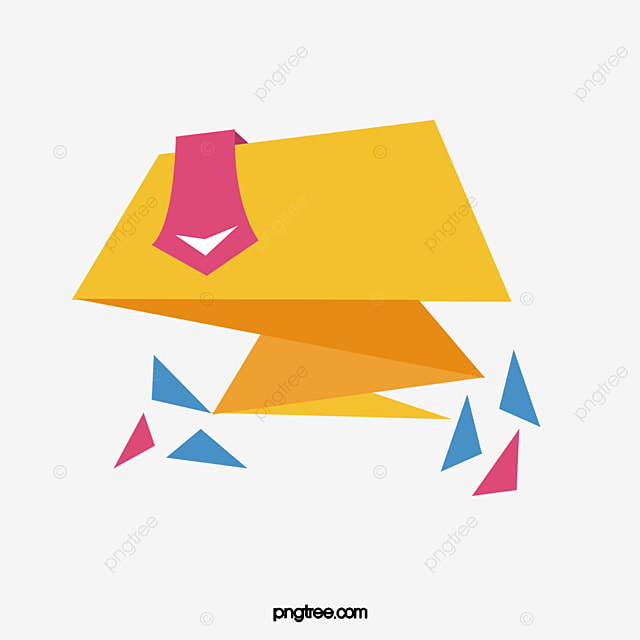Yellow Spiral Origami Ribbons Vector Png Promotion Promotional PNG And