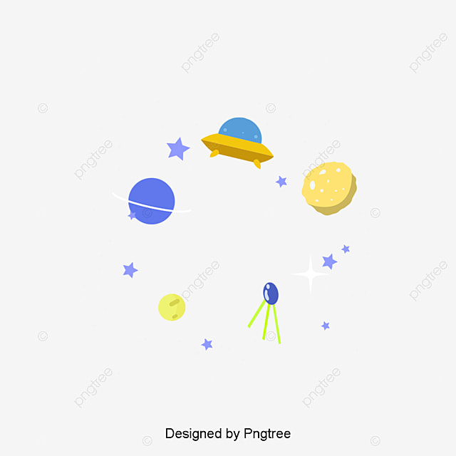 Cosmic planet decorative border cartoon rocket for Design space adobe