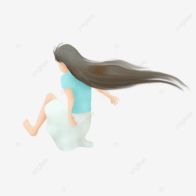 vector long hair curly hair ladies hair long curly hair