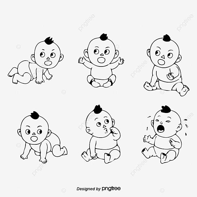 Kartun Lelaki Dan Wanita Bayi Menangis Bayi Itu Menangis Bayi
