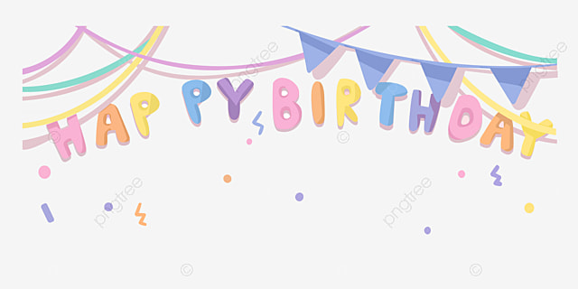 Hand Painted Birthday Party Decorations Hand Vector Birthday