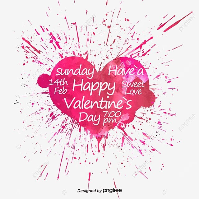 Watercolor Valentine\'s Day, Watercolor, Love, Valentine\\\'s Day PNG ...