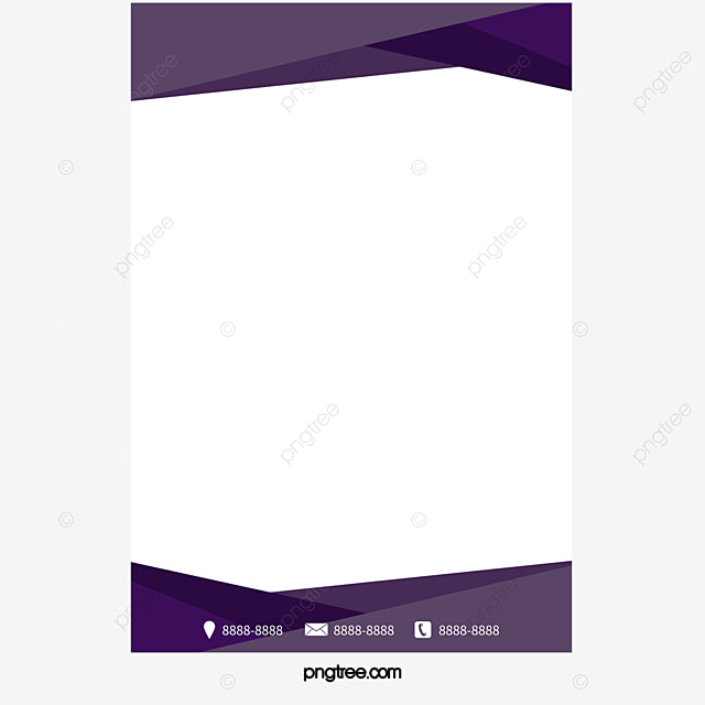 purple business flyer border vector png violet purple