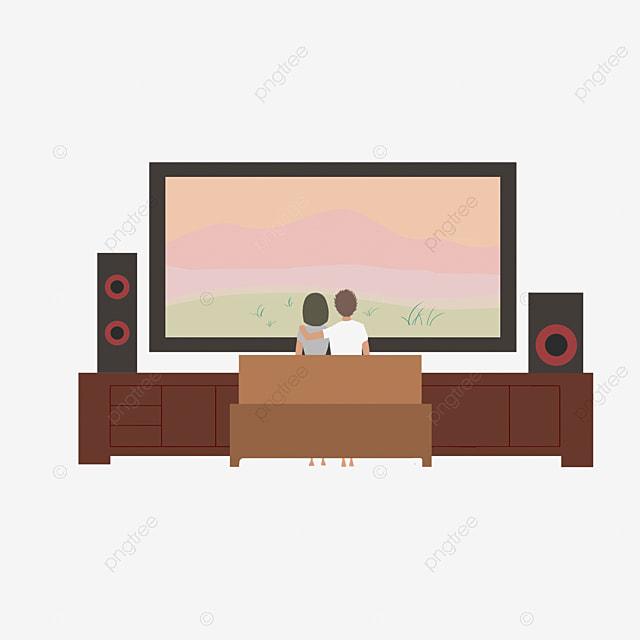 The Children Watch Tv Together, Children Clipart, Tv ...