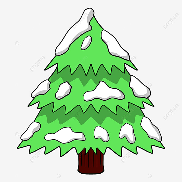 Green Snow Christmas Tree The PNG Image And Clipart