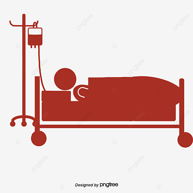 Silhouette cartoon for elderly patients, Paralytic