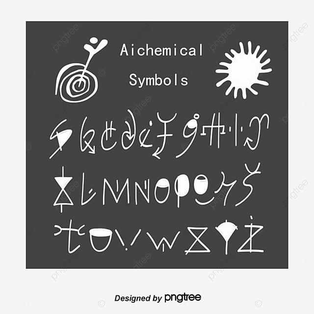 Alchemical Symbols Ancient Symbols Geometric Pattern Alchemy Png