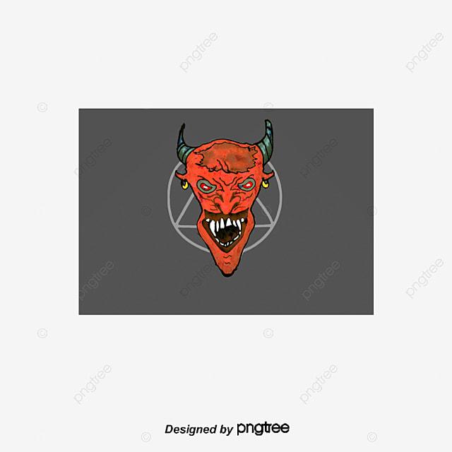 Terribles Demonios, El Terror, Diablo, Cuerno De Buey PNG y Vector ...