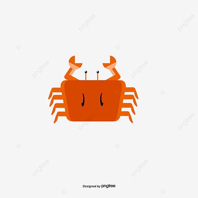 red crab vector hand seafood crab png and vector for free download rh pngtree com crab vector graphic free crab vector for cricut