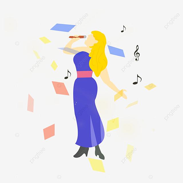 chante une chanson de femme chanter chanter dessin image