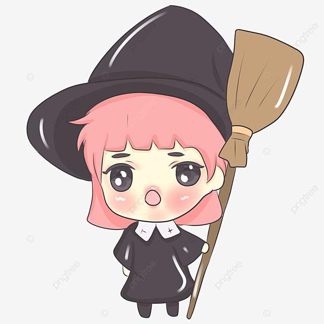 cartoon halloween witch bash balai cartoon fichier png et