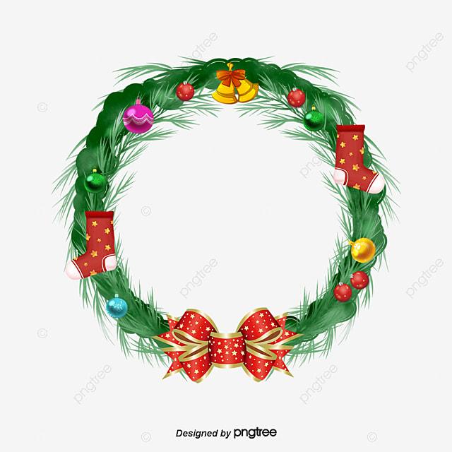 coronas de flores en navidad navidad corona regalo de navidad png y psd - Coronas De Navidad