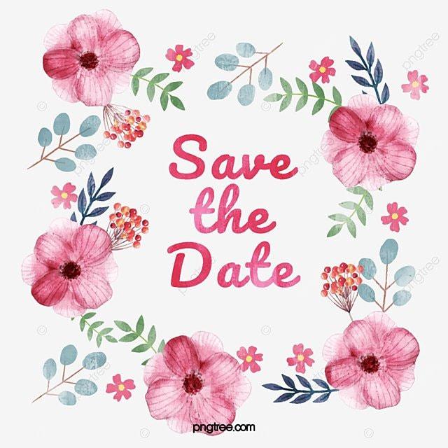 Flowers Vector Design Wedding Invitations Wedding: Pink Flower Invitation, Vector Png, Wedding Invitation