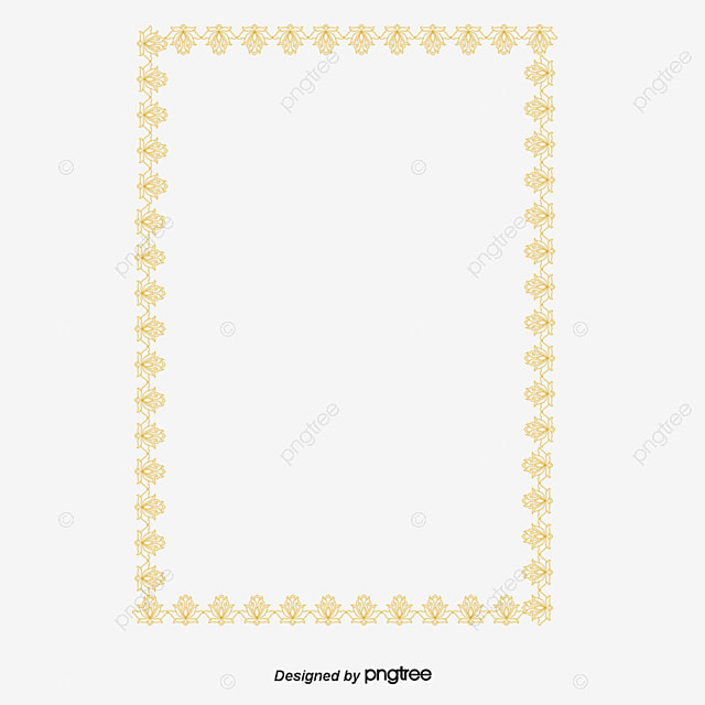 Golden Border, Profile Border, Lace Border PNG and PSD File for Free ...