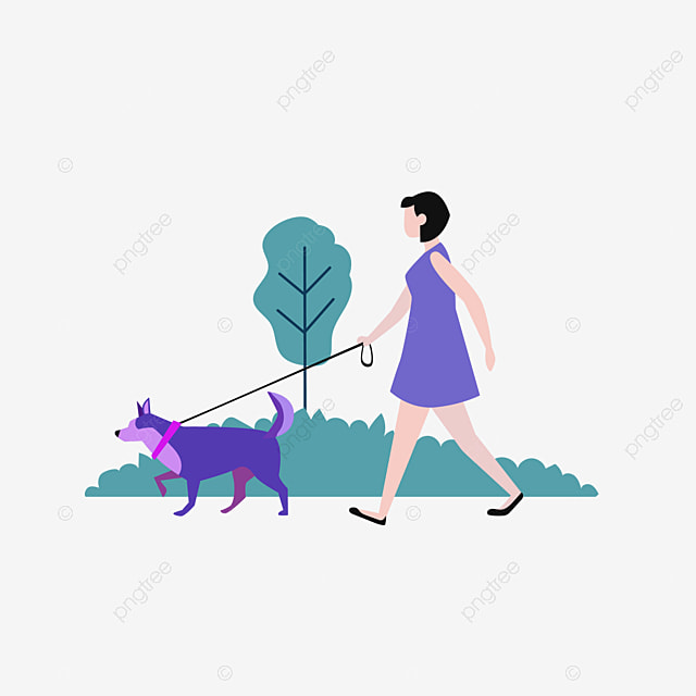 walk dogs in the park cartoon the dog walk the dog png and vector with transparent background for free download walk dogs in the park cartoon the dog