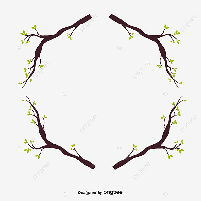 Branch Wood Frame, Vector Png, Autumn, Autumn Border PNG and Vector ...