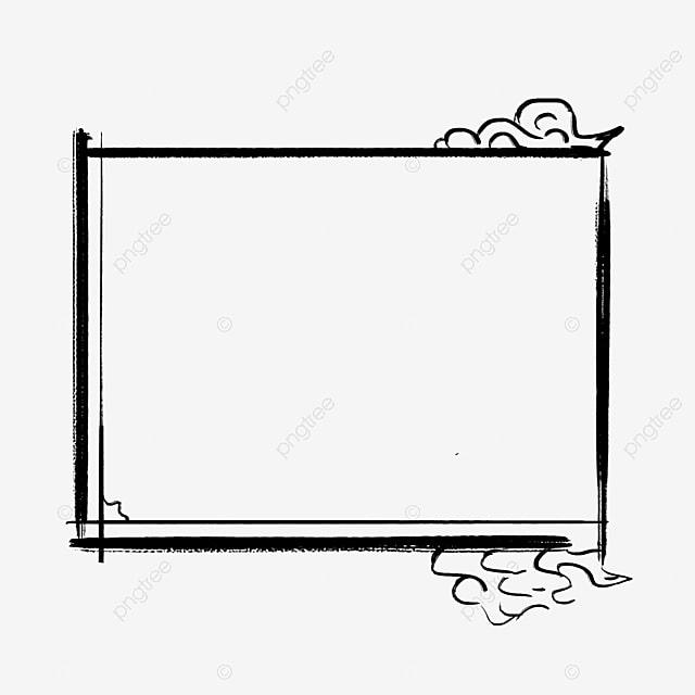 Black Minimalist Framework, Black, Simple, Frame PNG Image and ...