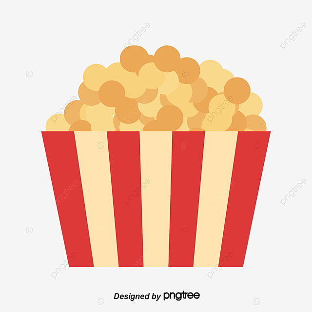 Vector popcorn, Popcorn, Cartoon Hand Drawing, Decorative Pattern PNG and Vector for Free Download