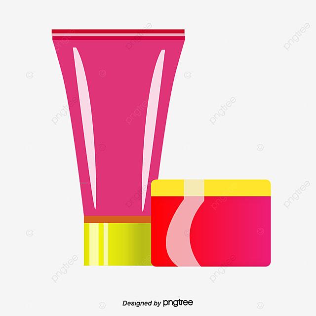 Vector Body Cream Body Lotion Cartoon Hand Drawing