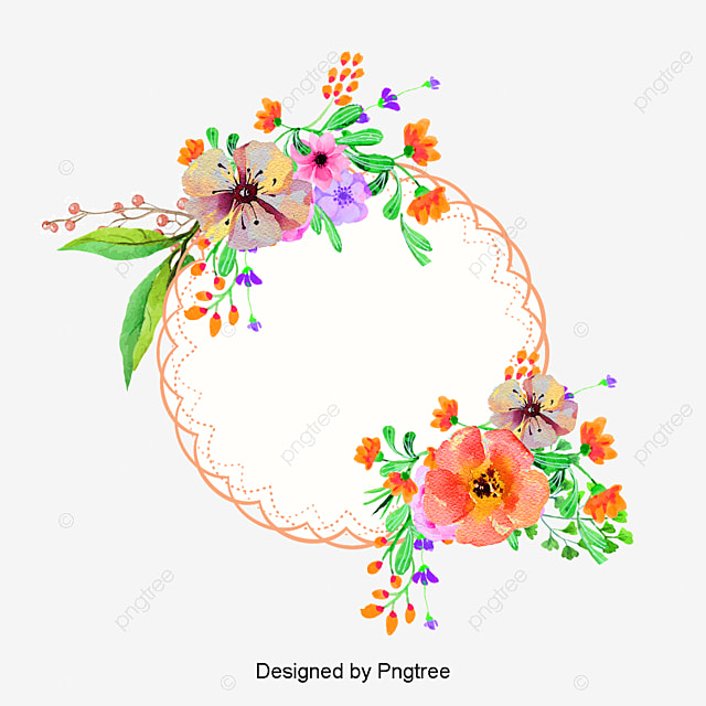 Frames Floral Em Png: Pink Flower Decorative Box, Vector Png, Polygon, Pink