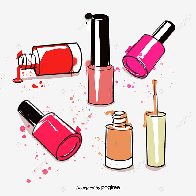 How To Draw A Cartoon Nail Polish Bottle Nail Ftempo