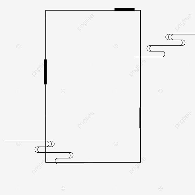 Black Frame, Black, Decorative Pattern, Frame PNG Image and Clipart ...