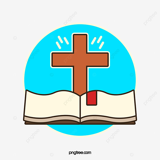 Diseño De Logotipo De La Cruz Y De La Biblia Libro Libro