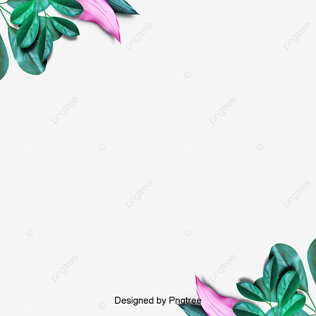 water color blue flower border vector png watercolor