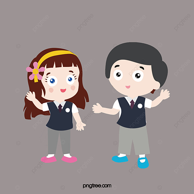 Talking Children Cartoon Lovely Children Png Image And